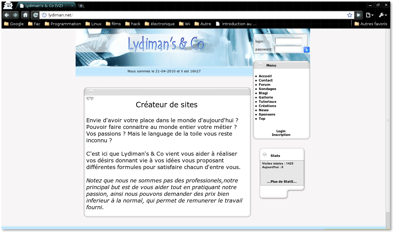 CMS - Lydiman screenshot